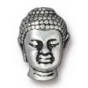 Bead Buddha Large Hole 13.5mm Antique Silver